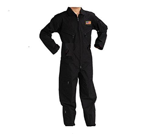 Kids Future Pilot Tactical Black Coverall/Flight Suit (Small)