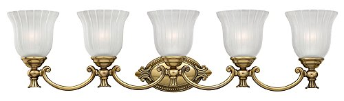 Hinkley 5585BB Traditional Five Light Bath from Francoise collection in Brassfinish,