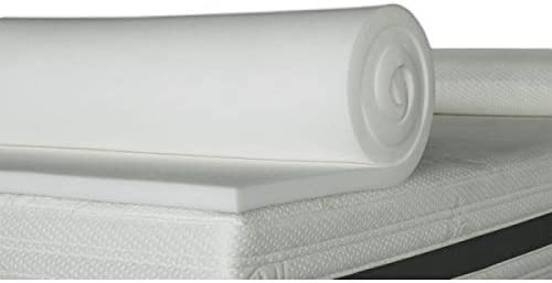 ventadecolchones.com Plancha de Viscoelástica para Topper Sin Funda (90 x 190 cm - 5 cm de Visco)