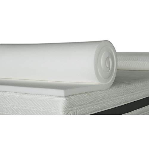ventadecolchones.com Plancha de Viscoelástica para Topper Sin Funda (135 x 180 cm - 3 cm de Visco)