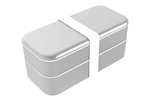 Compatible with Apple Products Fits USA Style Wall Chargers {Silver} Function 101 BentoStack Charge 5000 Accessory Travel Case and Desktop Organizer with Qi Wireless Charging Cover and Power Bank