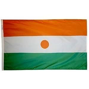 4pies x 6pies. Bandera de Níger con ojales de latón