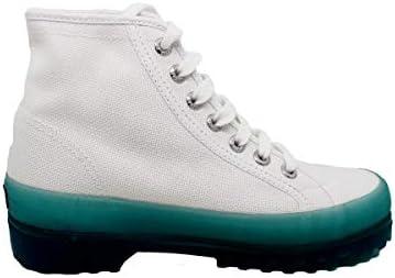 SUPERGA Scarpe Alte Donna 2341-Alpina Jellygum White/Blue (37)