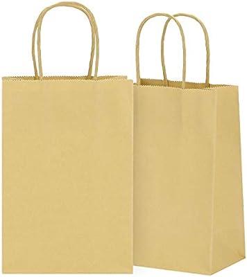 Amazon.com: Wlotu - Bolsas de papel de estraza (50 unidades ...