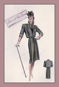 Smart Bolero Suit Fine art canvas print (20