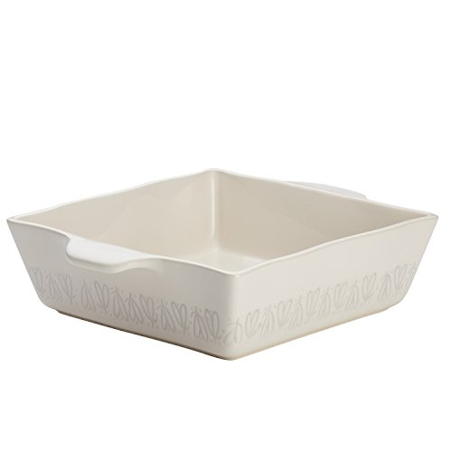 Ayesha Curry Home Collection Stoneware Square Baker, 8-Inch x 8-Inch, Cream by Ayesha Curry (Image #5)