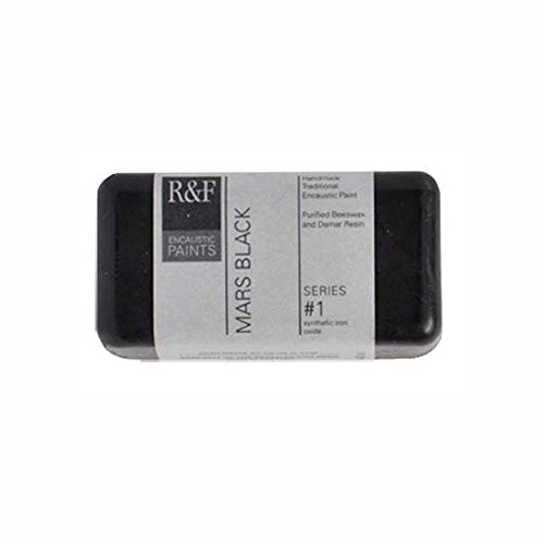 R&F Encaustic 40ml Paint, Mars Black