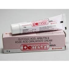 Demelan Cream (Glycolic Acid/Arbutin/Kojic Acid) by glenmark