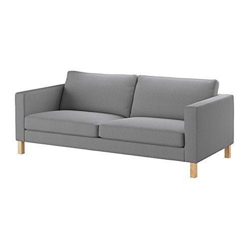 ikea-karlstad-sofa-cover-slipcover-knisa-light-gray-grey-60323016-exact-fit-cover-for-ikea-karlstad-