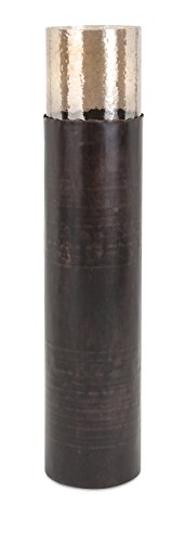 IMAX 20282 Arkin Candle Floor Cylinder, Large, Brown/Gold (Floor Tall Candle Holders)