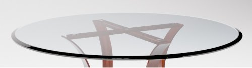 24'' Inch Round Glass Table Top 1/2'' Thick Tempered Beveled Edge by Fab Glass and Mirror by Fab Glass and Mirror (Image #1)