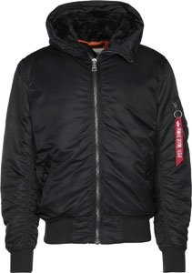 w Alpha MA fur 1 Negro o Jacket Hooded Industries wxxq6ZPf