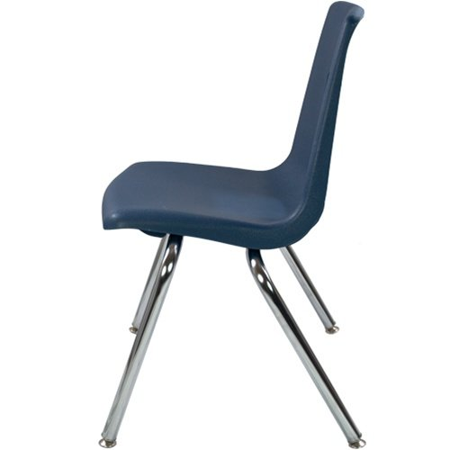 16'' Navy Stackable School Chair (4 pack)