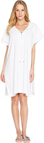 Seafolly Women's Dawn to Dusk Terry Sleeveless Cover-Up White Medium/Large