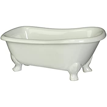 Kingston Brass BATUBW 7-Inch Length Ceramic Tub Miniature with Feet ...