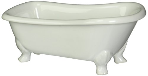 Kingston Brass BATUBW 7-Inch Length Ceramic Tub Miniature with Feet, White