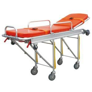 - MS3C-153B, Lightweight EMS Ambulance Stretcher with Pad, Weight Capacity 350 lbs
