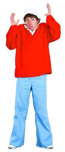 FunWorld Gilligan Island Costume, Red, One size