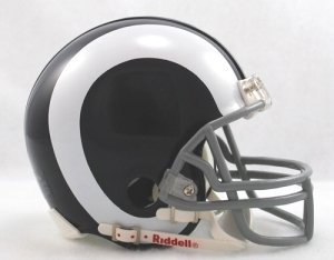 St. Louis Rams 1965-72 Throwback Replica Mini Helmet w/ Z2B Face Mask ()