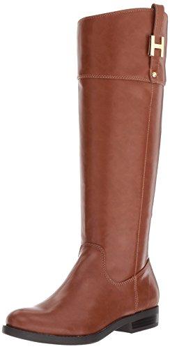 Tommy Hilfiger Women's Shyenne Equestrian Boot, Cognac, 6.5 Medium US