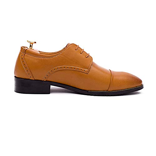 2018 Scarpe colore 43 di di un Basse scarpe casual basso Oxford Business Dimensione da Oxford dare Color EU Stringate Bianca Trend formali aiuta abbigliamento a Il alle tocco Giallo di uomo nuovo rrRdxvn