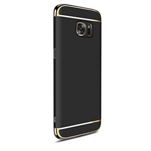 Price comparison product image FeiteElectroplate Hard Shockproof Case Cover for Samsung Galaxy S7 Edge (Black)