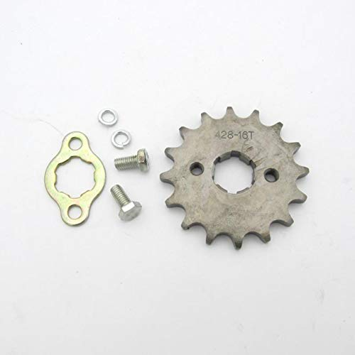 FayOK Sprocket Front 428-16t 20mm Motorcycle ATV Dirtbike Drive Sprocket 16 Tooth