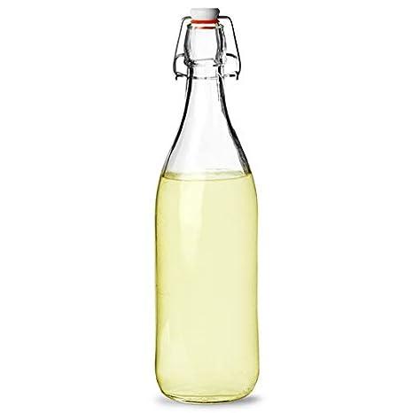 Botella de cristal hermético 1ltr - botella de servir con hermético sellado de goma: Amazon.es: Hogar