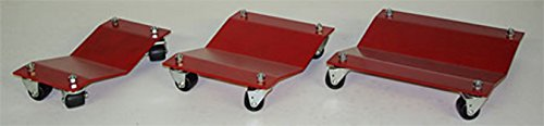Heavy Duty Car Dolly Professional Automobile Wheel Skate Shop Garage Premium Easy Roll Automotive & Equipment Movers 2,500# Capacity Each Full Bearing Non-Mar Casters (16''x16'') by Autodolly (Image #2)
