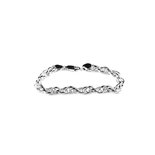 050eb6783a59ea Arisidh Elegant Exclusive Plain Connected Circle 925 Sterling Silver  Bracelet Men And Boys: Amazon.in: Jewellery