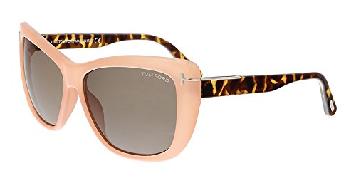 Tom Ford Womens Lindsay Tortoise Oversized Cat Eye Sunglasses Pink - Women Tom Ford Eyewear