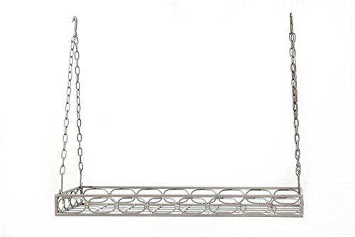 Old Dutch 36 x 17.3 x 3.3 Antique Pewter Rect Pot Rack with
