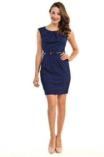 Buy belted dress with pockets - 5
