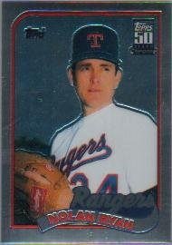 - 2001 Topps Chrome Traded Baseball Card #T134 Nolan Ryan