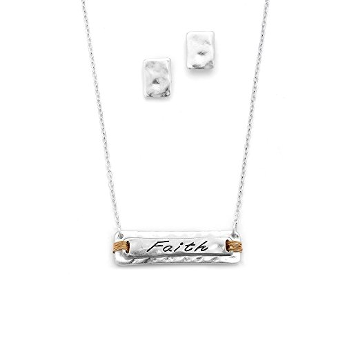 Etched Message Necklace Pendant Earring product image