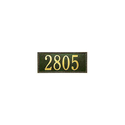Whitehall Products Egg and Dart Standard Wall Two Line Address Plaque in Black/Silver