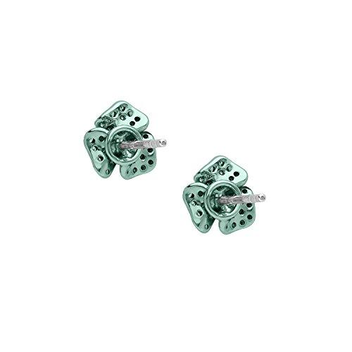 AS29 Boucles d'Oreilles Or Blanc 18carats (750/1000) Ronde Diamant Blanc Femme