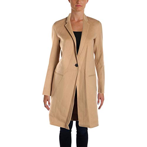 Theory Women's Essential Coat Df Outerwear, Palomino S