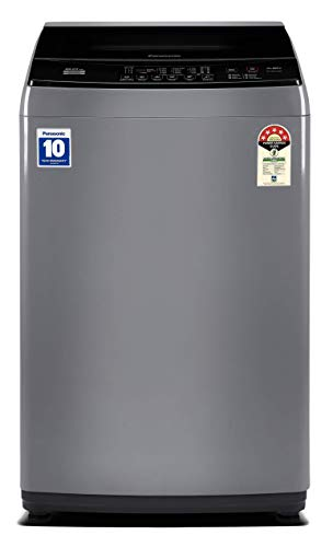 Panasonic 8 Kg 5 Star Fully-Automatic Top Loading Washing Machine (NA-F80LF1HRB, Grey) 2021 June Fully-automatic top-loading washing machine; 8 kg capacity 8 wash programs Warranty: 2 years on product, 10 years on motor