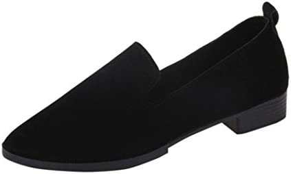 Hot Sales Flat Shoes Women,Haoricu Women Casual Solid Loafer Low Heel Flat Slippers Dress Sandals Pointed Toe Oxford Shoes