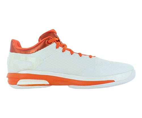 Adidas Sm Crazylight Amplificare Bassa Dimensione Scarpe Da Uomo Bianco / Arancio / Bianco