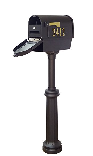 Special Lite Products Company Berkshire Curbside Mailbox With Front And Side Address Numbers, Newspaper Tube And Bradford Mailbox (Bradford Mailbox Post)