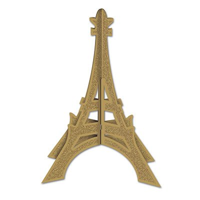 Eiffel Tower Centerpieces (Glittered 3-D Eiffel Tower Centerpiece Party Accessory)