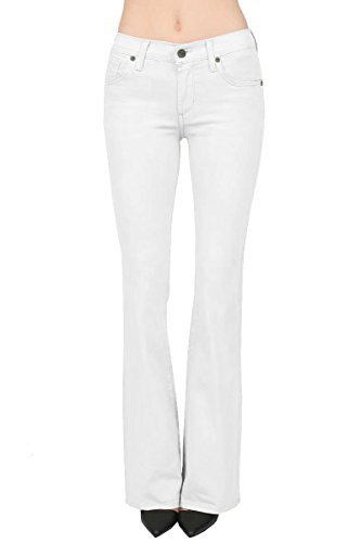 Women's Skinny BootCut Stretch Pant-P31698BL-WHITE-7