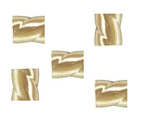 14 K Gold Filled 2 X 2 MM Twist Crimp Beads (Pack of 50)