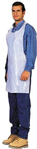 Disposable White Poly Aprons