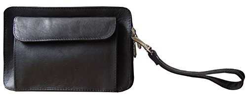 Piel Leather Adventurer Pocket Book Bag in Black by Piel Leather