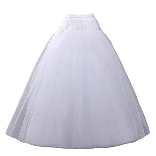 Aprildress A-line Hoopless Petticoat Crinoline Underskirt Slips for Bridal Wedding Dress White