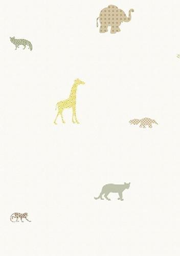 papel de parede bobinex infantario vinilico animais branco