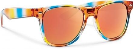 Forecast Optics Crunch Sunglass  Rainbow  Red Mirror Polycarbonate